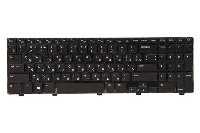 Клавиатура для ноутбука DELL Inspiron 15: 3521; Vostro: 2521 черный, черный фрейм, фото 2
