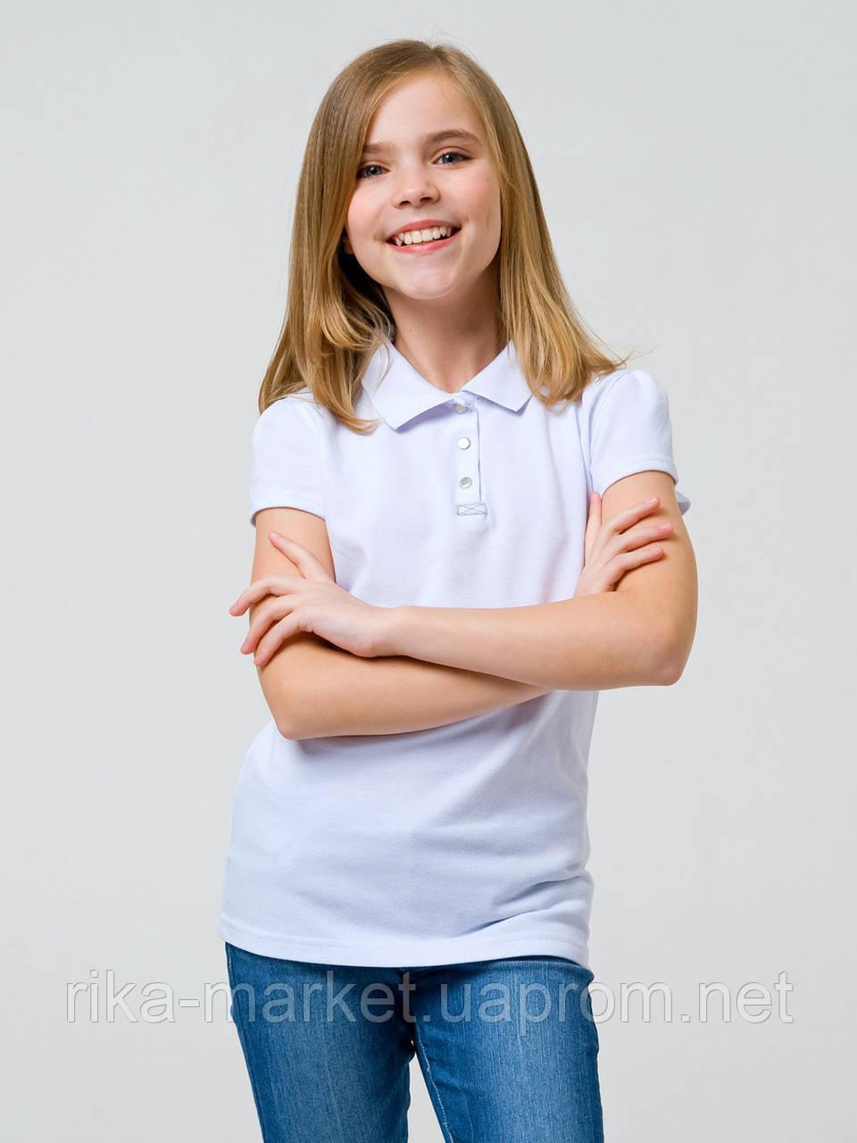 Футболка-поло для девочки Смил,  114745/114746   6-14 лет