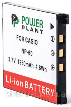 Аккумулятор PowerPlant Casio NP-60 1250mAh, фото 2