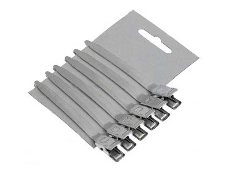 Зажимы металлические 6 шт длина 8,5 см, Sibel 9302146/6