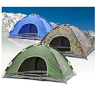 Палатка автоматическая 4-х местная ЗЕЛЕНАЯ, Синяя, фото 1