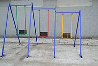 Трехместные детские металлические качели для улицы Качели, фото 1