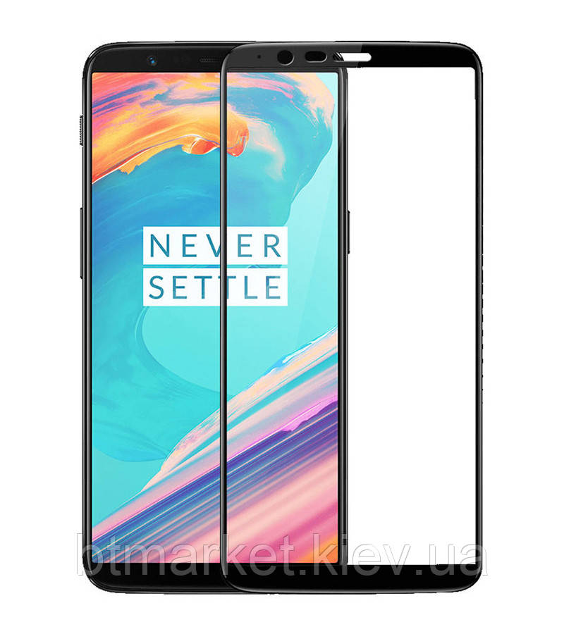 Защитное стекло Full screen PowerPlant для OnePlus 5T, Black