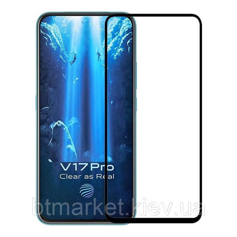 Защитное стекло Full screen PowerPlant для Vivo V17 Pro, Black