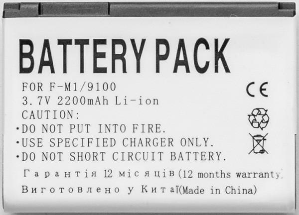 Аккумулятор PowerPlant Blackberry 9100 (F-M1) 2200mAh