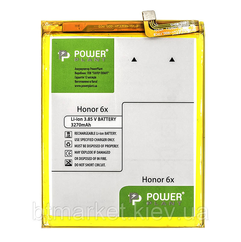 Аккумулятор PowerPlant Huawei Honor 6X (HB386483ECW+) 3270mAh
