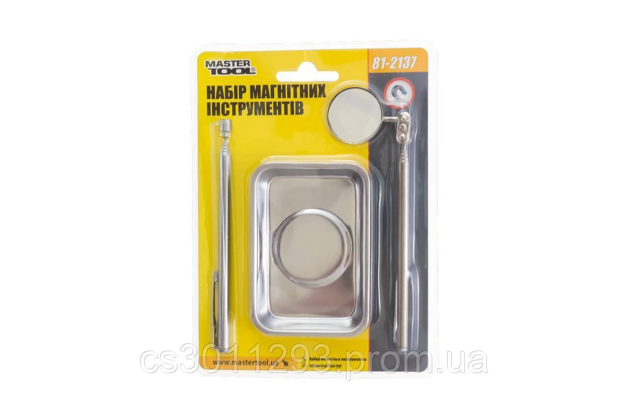 Набор магнитных инструментов Mastertool - тарелка x зеркало x захват (3 шт.)