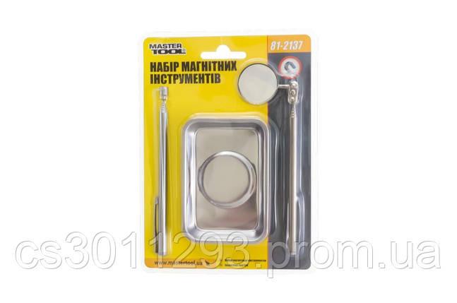 Набор магнитных инструментов Mastertool - тарелка x зеркало x захват (3 шт.), фото 2
