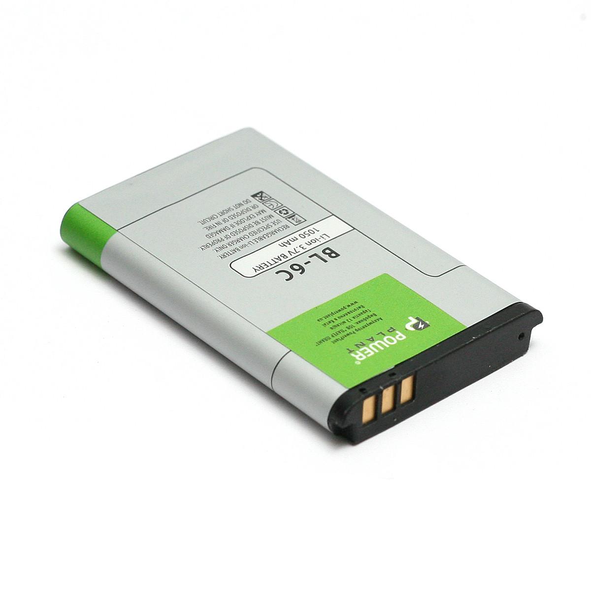 Аккумулятор PowerPlant Nokia 6019, 6255 (BL-6C) 1050mAh