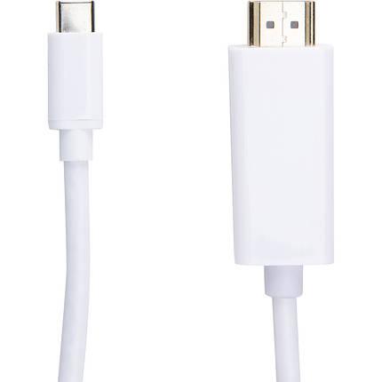 Видео кабель PowerPlant HDMI male - USB Type-C, 1.8м, фото 2