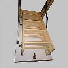 Дерев'яні сходи на горище Hot Step Premium, Мансардна драбина 280cm