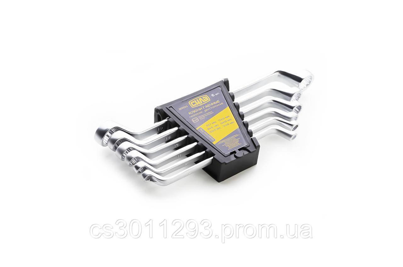 Набор накидных ключей Сила - 6 шт. (6-19 мм)
