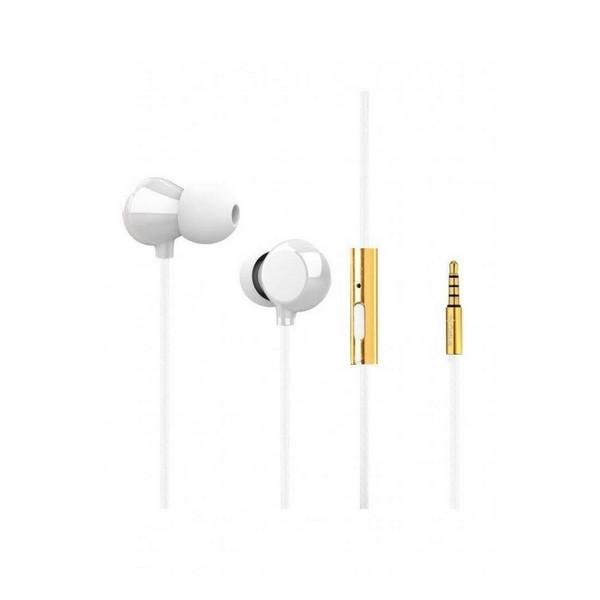 Навушники вакуумні провідні з мікрофоном Gelius Air Kvazar Ceramic GA-WE-001 White