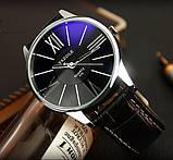 Чоловічі наручні годинники Geneva чорні, фото 3