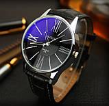 Чоловічі наручні годинники Geneva чорні, фото 4