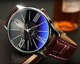 Чоловічі наручні годинники Geneva чорні, фото 5