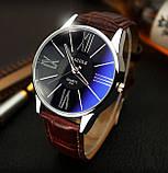 Чоловічі наручні годинники Geneva чорні, фото 6