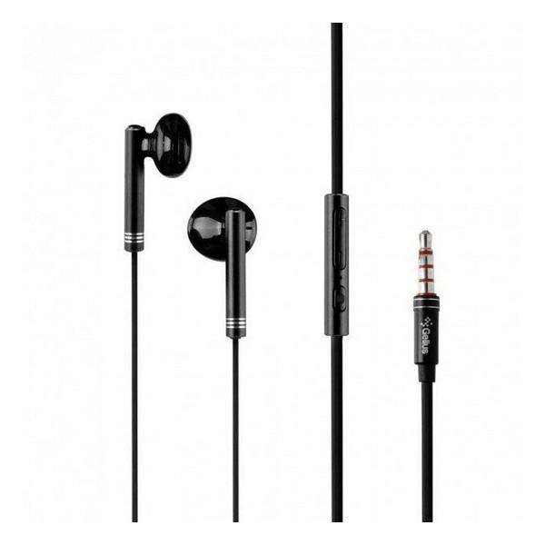 Навушники вкладиші провідні з мікрофоном Gelius Pro GP-HF390 Betta Black