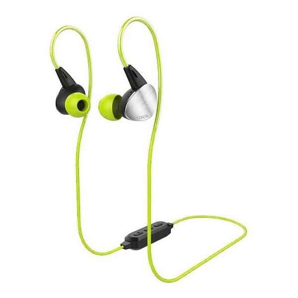 Навушники вакуумні безпровідні з мікрофоном Yison E1 Green