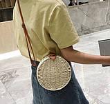 Женская круглая бамбуковая сумочка, фото 3
