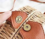 Женская круглая бамбуковая сумочка, фото 10