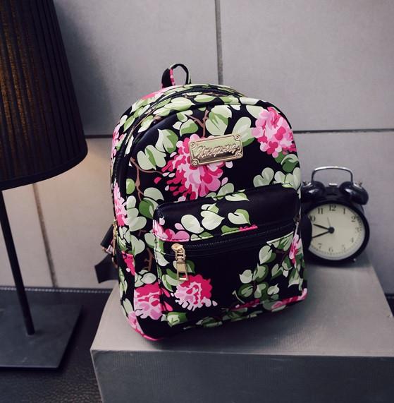 Жіночі маленькі рюкзаки з квітами
