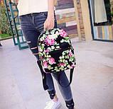 Женские маленькие рюкзачки с цветами, фото 2