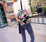 Жіночі маленькі рюкзаки з квітами, фото 3