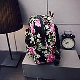 Жіночі маленькі рюкзаки з квітами, фото 4