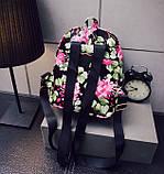 Жіночі маленькі рюкзаки з квітами, фото 6