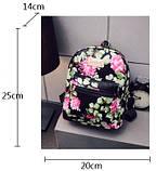 Жіночі маленькі рюкзаки з квітами, фото 7