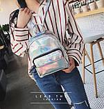 Детский блестящий рюкзак отражающий, фото 4