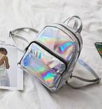 Детский блестящий рюкзак отражающий, фото 5