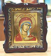 Икона Богородицы Скоропослушница (писаная,сусальное золото,киот)