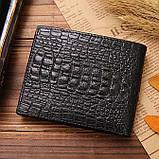 Мужской кожаный кошелек с крокодилом, фото 3