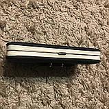 Черный женский клатч кошелек с бантиком, фото 5