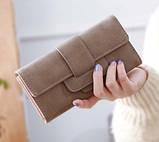 Модний клатч жіночий гаманець шкіра ПУ, фото 2