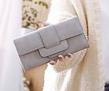 Модний клатч жіночий гаманець шкіра ПУ, фото 4