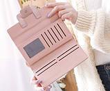 Модний клатч жіночий гаманець шкіра ПУ, фото 8