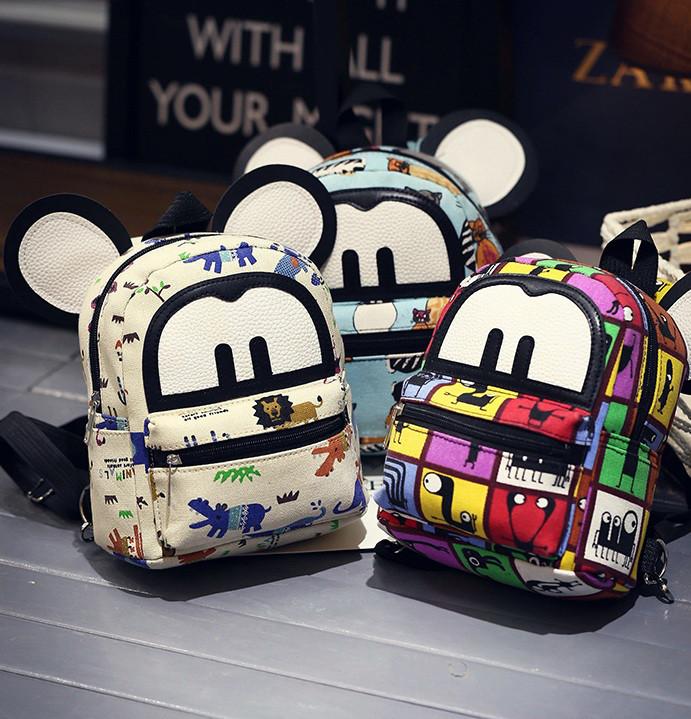Детские маленькие рюкзаки с ушками