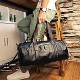 Чоловіча міська сумка шкіра ПУ, фото 6