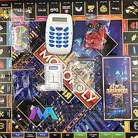 Настольная игра Монополия Империя с банковской картой кассовым аппаратом терминалом экономическая monopoly