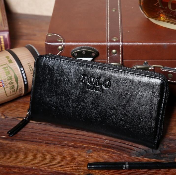 Чоловічий клатч гаманець Polo чорний