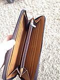 Чоловічий клатч гаманець Polo чорний, фото 3