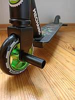 Самокат трюковый с Пегами Best Trike, алюминиевый диск и дека, До 100 кг, Зелёный