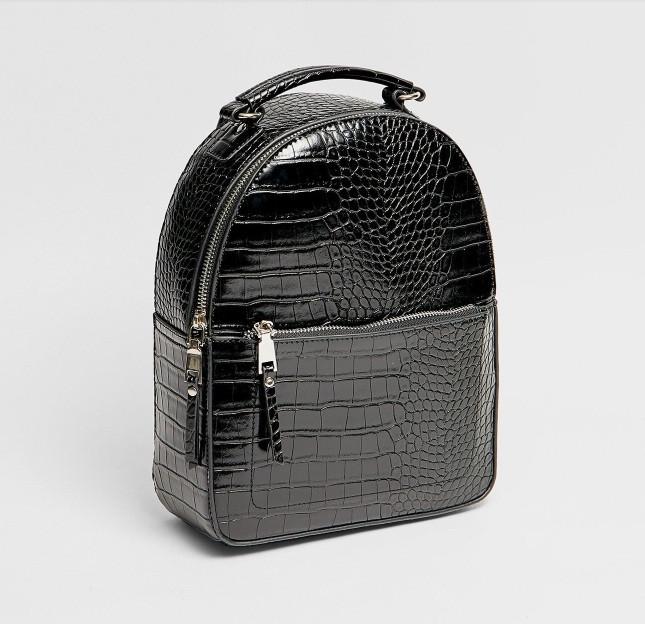 Чорний жіночий міні рюкзак