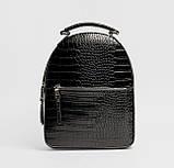 Чорний жіночий міні рюкзак, фото 2