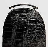 Черный женский мини рюкзак, фото 5