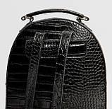 Чорний жіночий міні рюкзак, фото 5