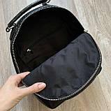 Чорний жіночий міні рюкзак, фото 6